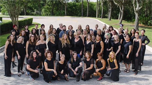 The team from Cutting Loose Salon in University Park, Florida.