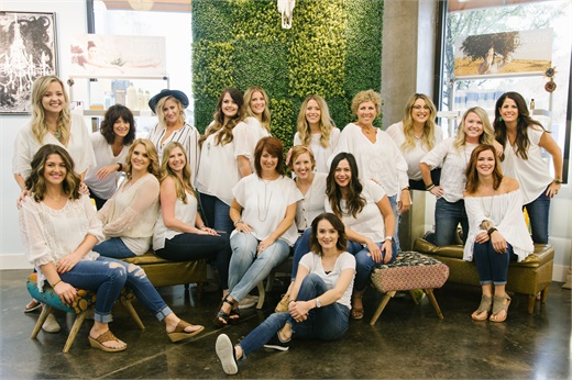 The team from DV8 The Salon in Grapevine, Texas.
