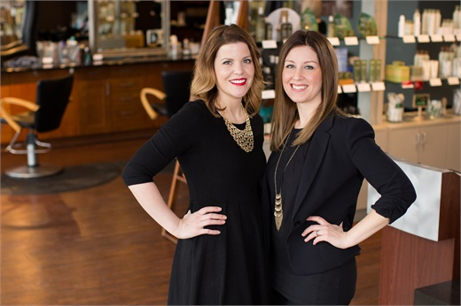Stephanie Lewis and Katie Schmitz, owners of Daylily Spa Salon in Saint Cloud, MN.