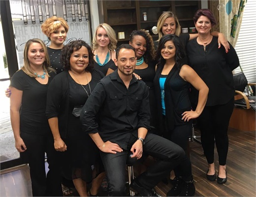 the team fromn Design Concepts Salon & Boutique in Corpus Christi, TX.
