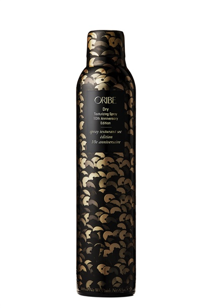To commemorate Oribe Hair Care's 10 year anniversary, the brand's cult classic best-selling product, Dry Texturizing Spray, is now available in a limited edition celebratory sequin-wrapped bottle. Learn more at Oribe.com/anniversary.