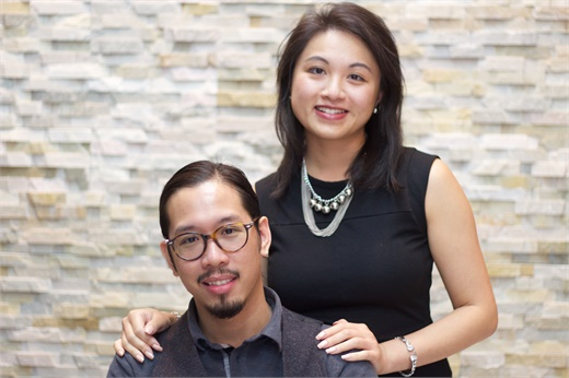 Martin Truong and Jessica Hoach, owners of Eikonic House of Barbers in Brampton, Ontario.