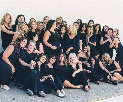 The team from Elan Hair Studio in Sea Girt, New Jersey.