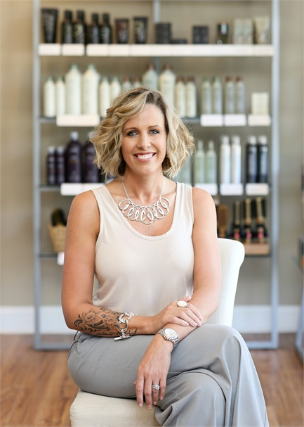 Jessica Greene, owner of Elements Salon in Fernandina Beach, FL.
