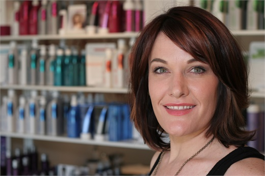 Ivy Overby, owner of Emerge Modern Salon and Spa, in Denver, CO.