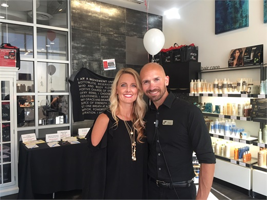 Michelle Steimann and Ryan Campbell, managers of Ginger Bay Salon and Spa in Kirkwood, Missouri.