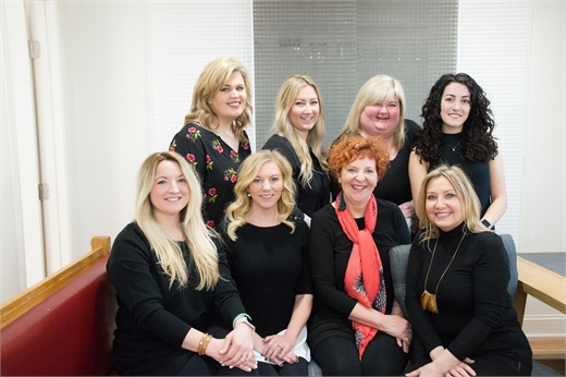 The team from Great Lengths Hair Salon in Memphis, Tennessee.
