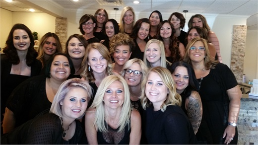 The team from HQ Salon and Spa in Portage, MI.