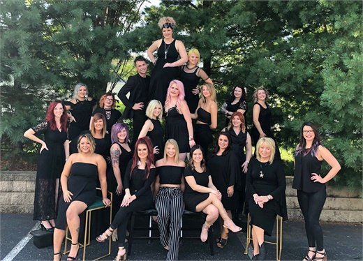The team from Hollywood Hair Salon and Spa in Centralia, Illinois.