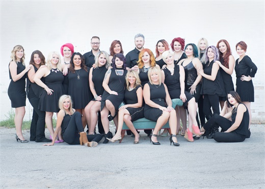 The team from Hollywood Hair Salon and Spa in Centralia, IL.