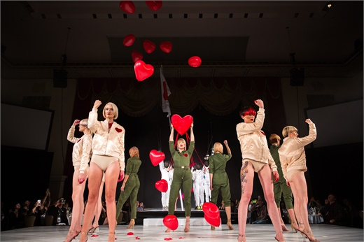 """Revolution of Love"" by Van Council and the Van Michael Salon Creative Team was a highlight from the ICA 2016 fall atelier in NYC."