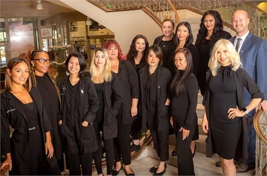 The team from Integrity Lash in Pasadena, California.