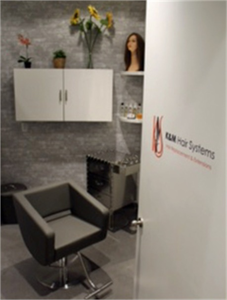 The private room for K&M Hair Systems in Maggie the Salon.
