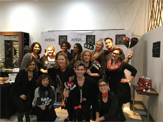 The team from Karen Allen Salon and Spa in Riverside, California.