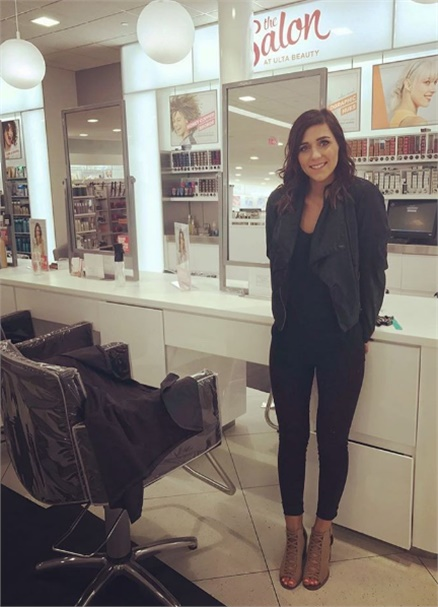 Katelyn Langman at The Salon inside Ulta Beauty.