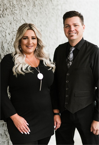 Tracey and Mike Franklin, owners of Loxx Salon and Spa in Cookeville, Tennessee.