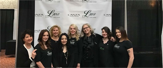 The team from Luxe Salon Spa and Laser Center in Rochester, New York.