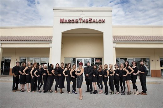 Maggie DiFalco and the team from Maggie The Salon in Pembroke Pines, Florida.