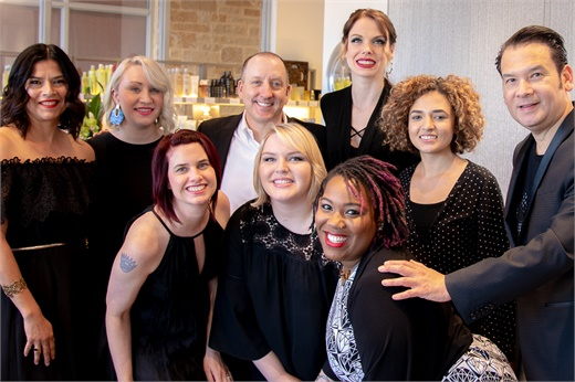 Some of the team from Maximum FX Salons in Austin, Texas.