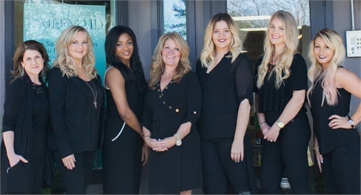 The team from Mermaid Hair Extensions in Kirkland, WA.