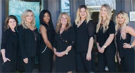 The team from Mermaid Hair Extensions in Kirkland, WA.