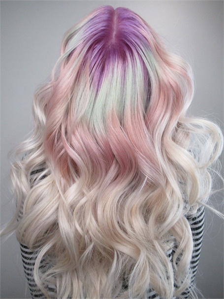 Chita Beseau's creation for Pravana's VIVIDS Crystals line of color.
