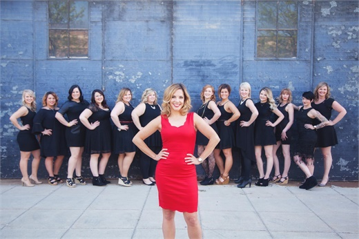 Erin Raber and the team from Pin-Up Curls in Fort Wayne, IN.