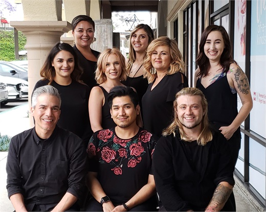 The team from Pistachio Cut and Color Bar in Carlsbad, California.