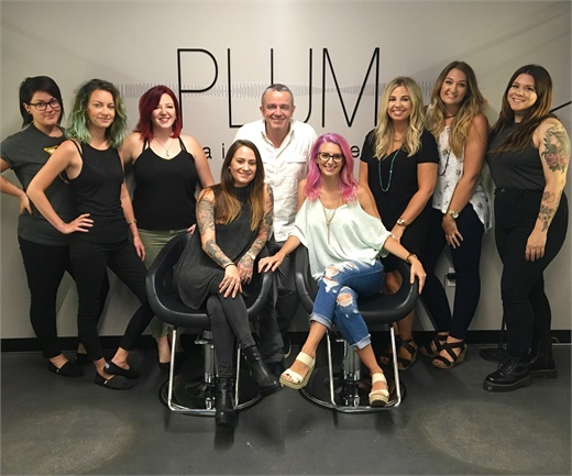 The team from Plum Hair Atelier in Raleigh, NC.