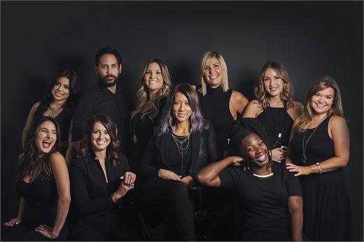 The team from Prive Salon in Orlando, FL.