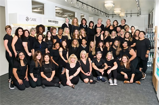 The team from Progressions Salon Spa Store in Rockville, Maryland.