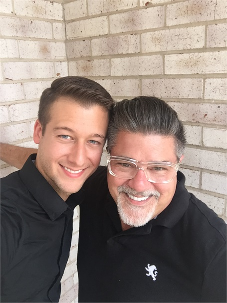 Derek Fatheree and Rodney Rohlfing, owners of Pure Natur Salon and Spa in Fairveiw Heights, IL.