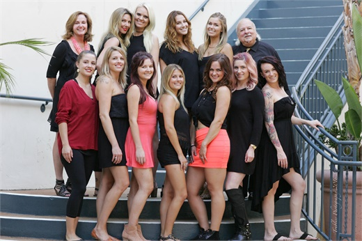The team from Quattra Via Aveda in Carlsbad, CA.