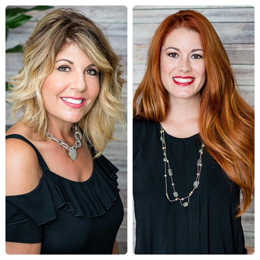 Karyn Hudson and April Vallandingham, owner of S-Kape Salon and Spa in Leonardtown, Maryland.