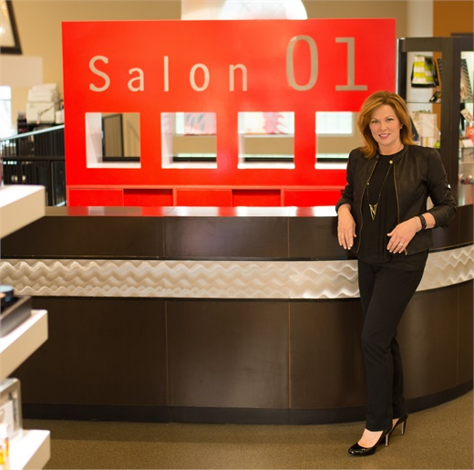 Micki Stirsman, co-owner of Salon 01, in Carmel, IN.