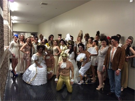 The Salon Nouveau team in costume in Tucson, AZ.