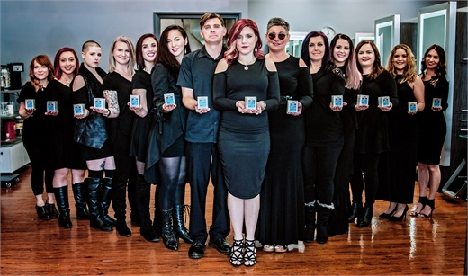 The team from Salon Fleur De Lis in St Louis, Missouri.