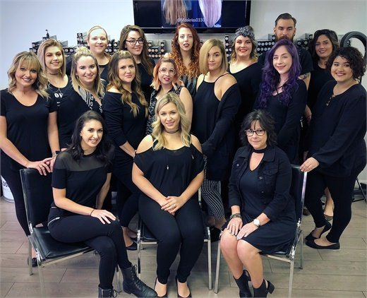 The team from Salon Halo in Spring Hill, Florida.