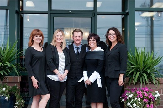 The team from Solaris Aveda in Evansville, Indiana.