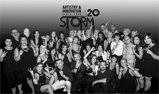 The team from Storm Hair Group in St. Catharines, Ontario.