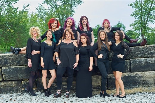 The team from Studio Wish Salon in Twinsburg, OH.