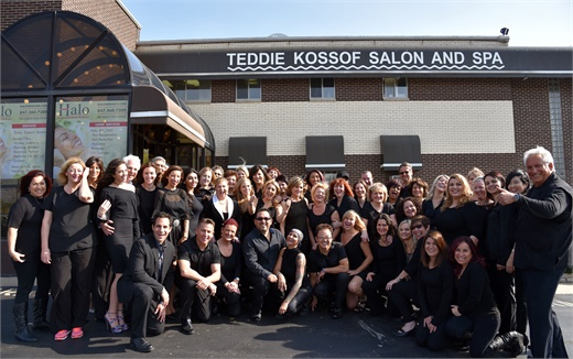 The team at Teddie Kossof Salon Spa in Northfield, IL.