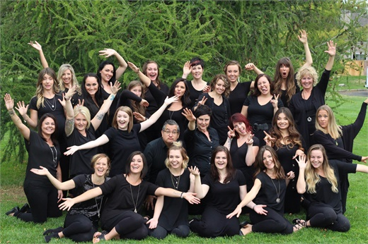 The team from Trios Aveda Salon in Fort Collins, CO.