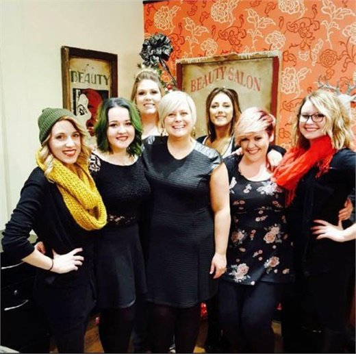 The team from Trixies Salon in Des Moines, IA.