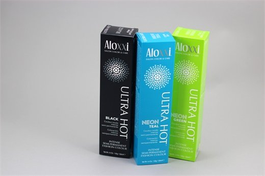 Black, Neon Teal and Neon Green from Aloxxi
