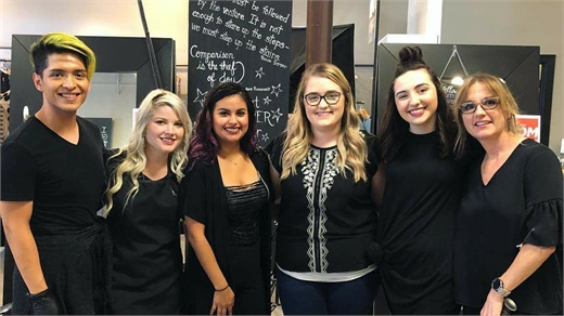 The team from Urban Eve Salon and Boutique in Pearland, Texas.