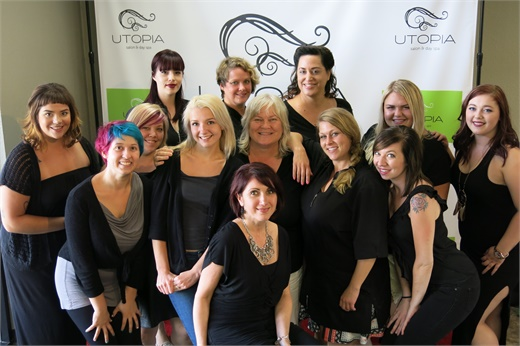 The team from Utopia Salon and Day Spa in Vancouver, WA.
