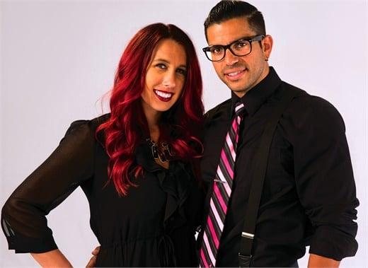 Ashlee and Armando Laya, owners of Voga Salon in Overland Park, KS.
