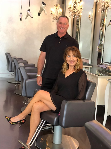 Kerry and Amy Hovland, owners of Von Anthony Salon in Frisco, Texas.