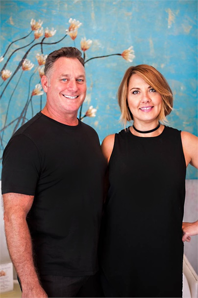 Kerry Hovland and Amy Kott Hovland, owners of Von Anthony Salon in Frisco, TX.